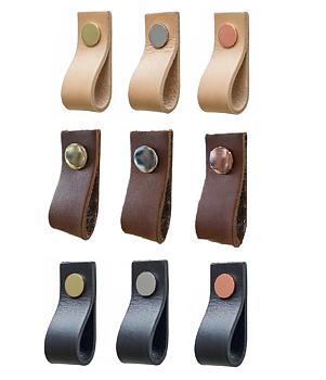 Läderflärp Tärnsjö  (svart, natur & brunt läder)