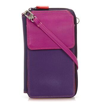 MyWalit reseplånbok/ väska  med  avtagbar axelrem 18x11, färg, Sangria Multi
