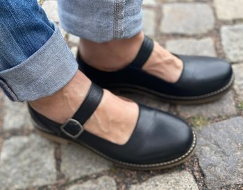 Rosa Negra Mary Jane sko, svart