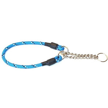 Hundhalsband Rundhalvstryp Med Reflex Blå 30cm