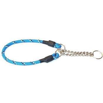 Hundhalsband Rundhalvstryp Med Reflex Blå 40cm