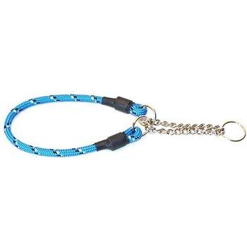 Hundhalsband Rundhalvstryp Med Reflex Blå 45cm