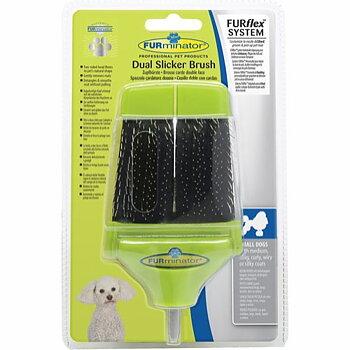 FURminator FURflex Dual Slicker Borsthuvud För Små Hundar