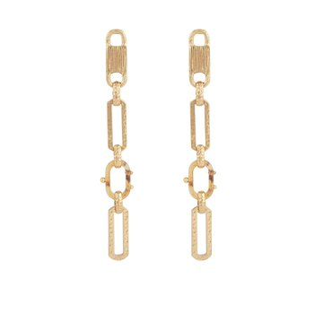 Escale EARRINGS small Size acetat gold