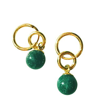 Hoops green aventurine