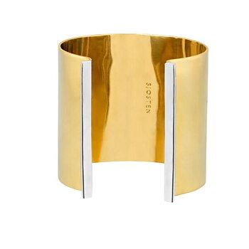 Silver strip cuff