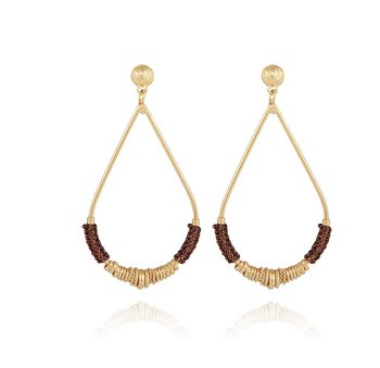 Zizanie gold plated earrings