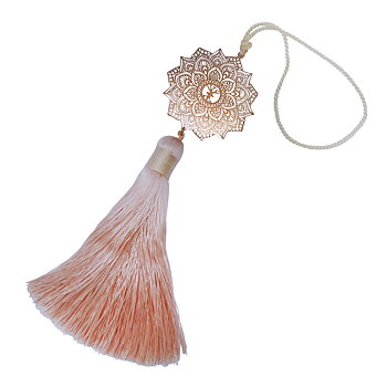 Yoga accessory Mandala maxi rose gold, champagne silk tassel