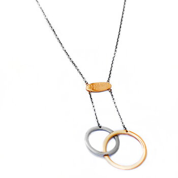 Connected Necklace, Steel / Rose Gold