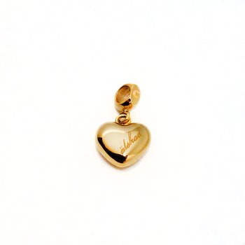 Liten berlock hjärta, guld