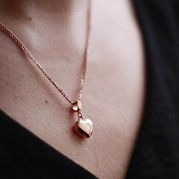 Liten berlock hjärta, rosé