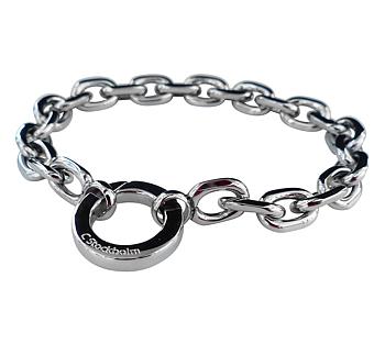 Armband ankarkedja med ringlås, stål