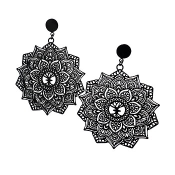 Mandala Earrings maxi, Black