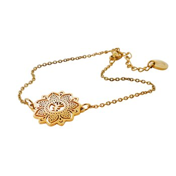 Mandala Bracelet mini, Gold