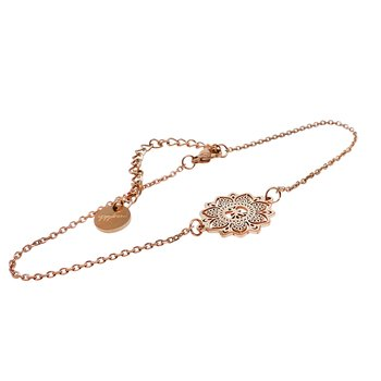 Mandala Anklet mini, Rose Gold