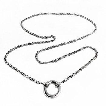 61cm Kedja till halsband med ringlås, stål