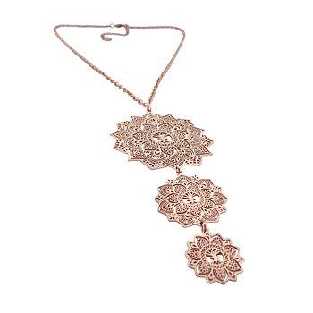 Mandala halsband Tripple, rosé | Yggdrasil