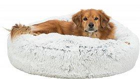 Trixie Harvey Hunddyna Rund Vit/Svart, flera storlekar
