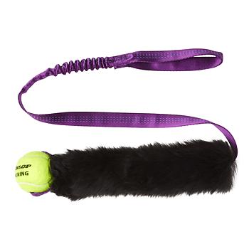 Tug-E-Nuff Jaktleksak Fårskinn med Tennisboll