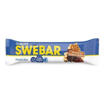 Swebar Low Sugar Chocolate Peanut Butter 50g-18-p