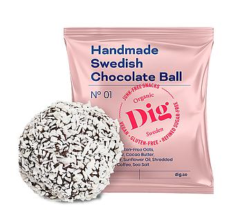 Dig Organic Chocolate Ball 25 g EKO