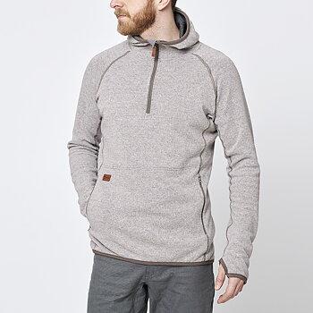 Limited Mens Monk Pullover Wool Hoodie - Sand Beige