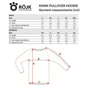 Mens Monk Pullover Wool Hoodie - Juniper