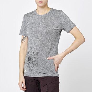 Womens Stroller Merino Tee -Salmiak Snowflake