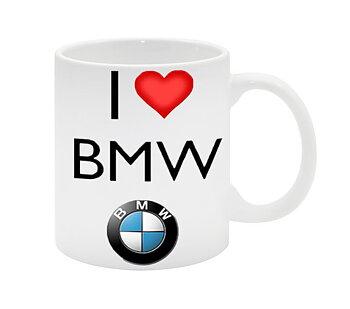 I love BMW hjärta bil 1 mugg