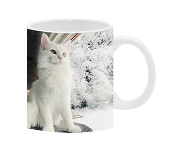 Vinter snö katt Miloo 1 mugg