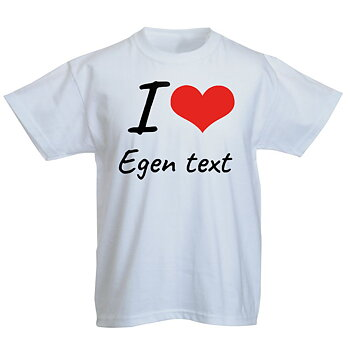I love med hjärta egen text egen design - Barn T-Shirt