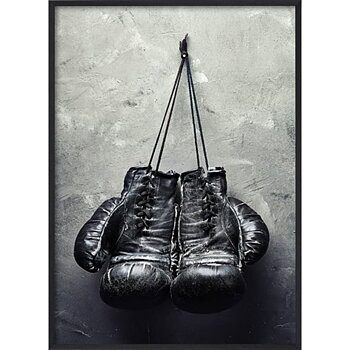 Black Boxing Gloves - Poster