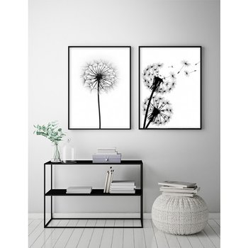 B&W Blowing Dandelion - Poster