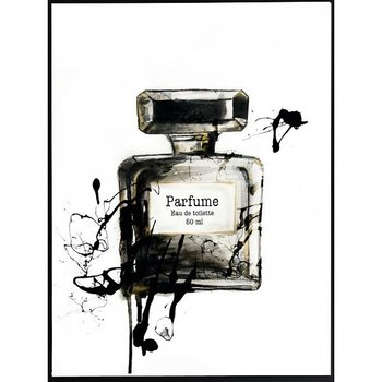 B&W Perfume Bottle - Poster