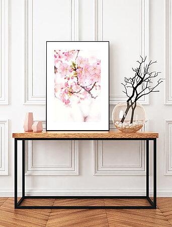 Blommor natur bakgrund ram 17 - poster