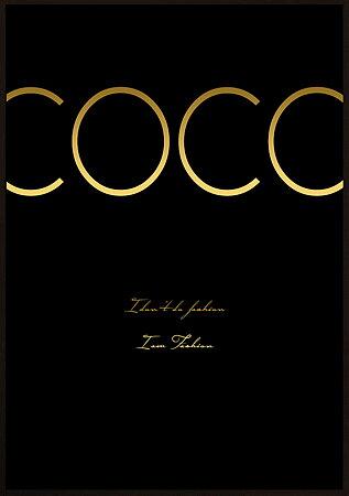 COCO GULD SVART  POSTER