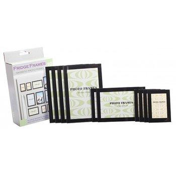 Kylskåpsmagneter Set - 10 st acrylmagnetramar