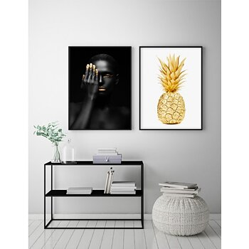 Gold Pineapple - Poster
