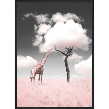 Pink Giraffe Candy Tree - Poster