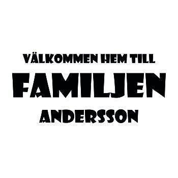 VÄLKOMMEN HEM TILL FAMILJEN 20 - VÄGGTEXT