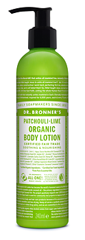 Lotion - Organic Hand & Body Lotion, Patchouli Lime, 240 ml
