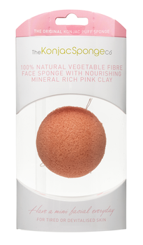 Rengöringssvamp - Premium Facial Puff with Pink Clay, 5 g
