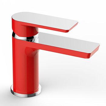 Смесител за баня- червен