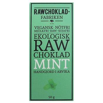 Rawchokladfabriken Arvika, Mint 50 g