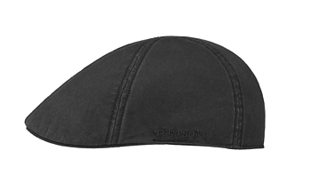 Texas Sun Protection Flat Cap - Black [Stetson]