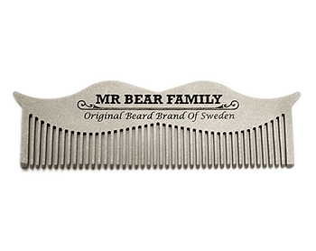 Moustache & Beard Steel Comb [Mr Bear Family]