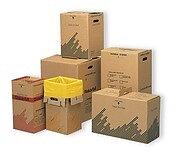Sopsäckskartong farligt avfall 22 lit m säck gul/text 1st