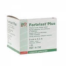 Klisterbinda Fortelast Plus häftande 5cmx4,5m 1st