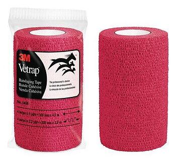 3M Vetrap binda elastisk självhäft röd 10cmx4,5m 1st