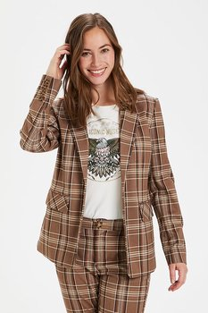 Culture Mandy Blazer Brown Check